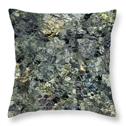 Water Throw Pillow featuring the photograph Water Rocks 1 by Andre Aleksis