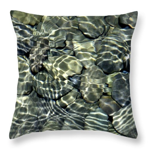 Water Throw Pillow featuring the photograph Water Rocks 2 by Andre Aleksis