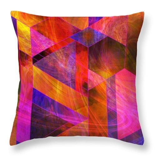 Wild Fire Throw Pillow featuring the digital art Wild Fire by John Robert Beck