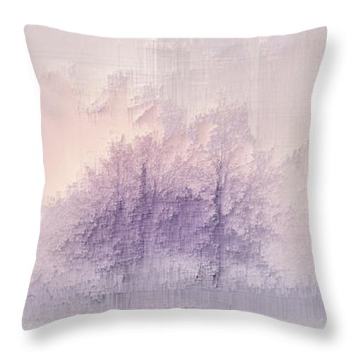 Throw Pillow featuring the digital art Winter landscape by Jenny Filipetti