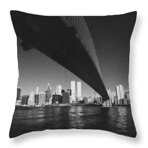 Famous Buildings Throw Pillow featuring the photograph World Trade Center Nyc by Steven Huszar