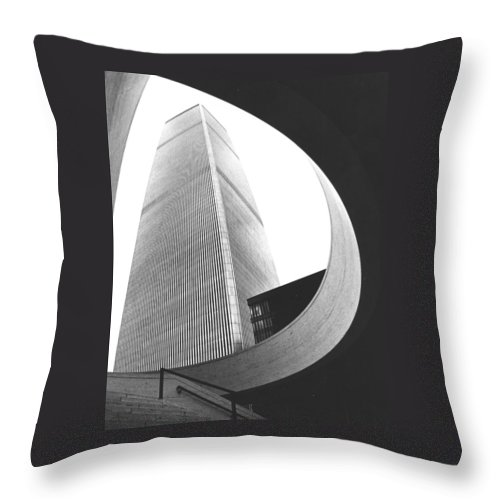 World Trade Center Throw Pillow featuring the photograph World Trade Center Two NYC by Steven Huszar