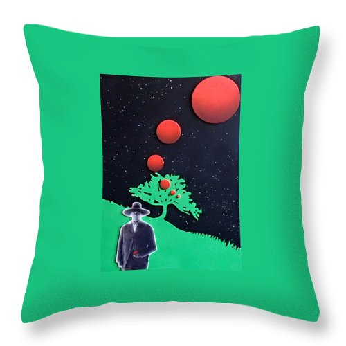 Wovoka Throw Pillow featuring the painting Wovoka by Philip Fleischer