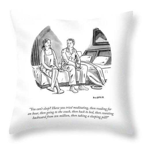 You Can't Sleep? Throw Pillow