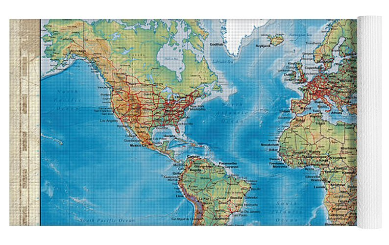 Huge hi res mercator projection physical and political relief world top rolled view gumiabroncs Gallery