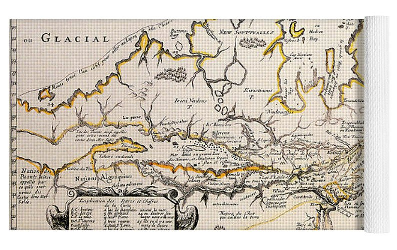 Antique maps of the world map of canada samuel de champlain c 1677 top rolled view gumiabroncs Choice Image