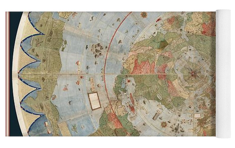 Antique maps old cartographic maps flat earth map map of the top rolled view gumiabroncs Gallery