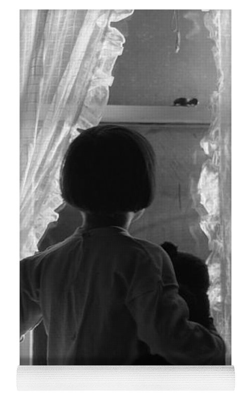 Child Looking Out Window At Night Yoga Mat For Sale By H Armstrong Roberts Classicstock