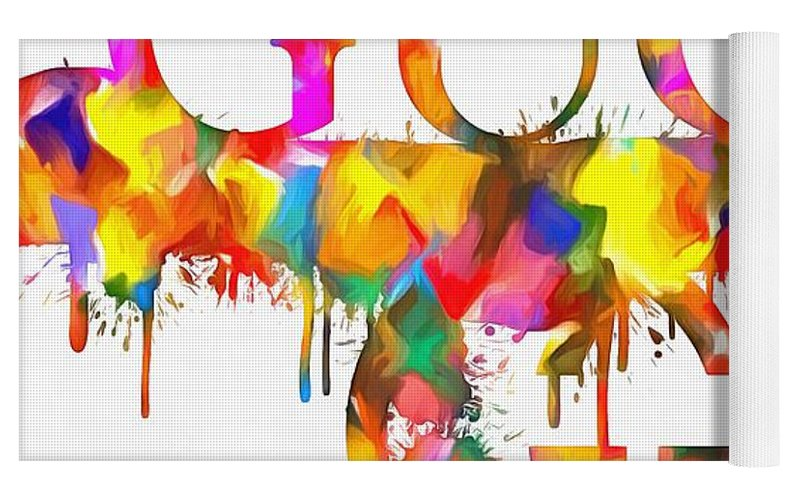 10a02b78c Colorful Gucci Paint Splatter Yoga Mat for Sale by Dan Sproul