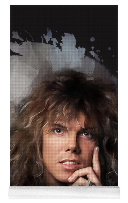 Joey Tempest Yoga Mat For Sale By Melanie D