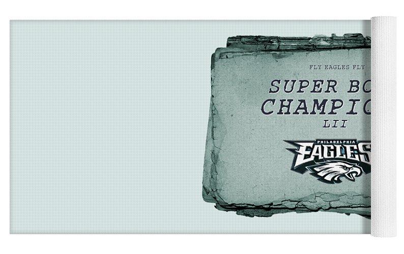 Philadelphia Eagles Super Bowl Champions L I I Playbook With Transparent Background Yoga Mat For Sale By John Stephens