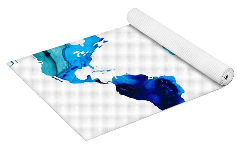 Map Of The World 3 Colorful Abstract Art Yoga Mat