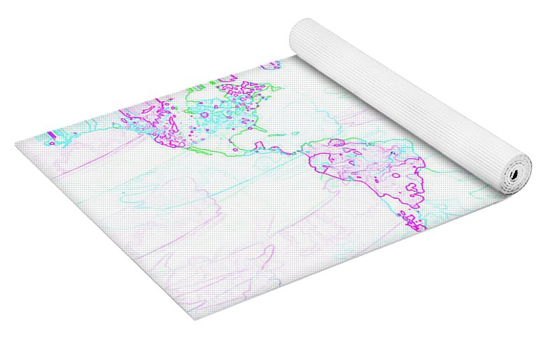 Spontaneous world map yoga mat for sale by zaira dzhaubaeva isometric view yoga bag gumiabroncs Gallery