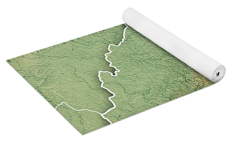 Topographic Map West Virginia.West Virginia State Usa 3d Render Topographic Map Yoga Mat For Sale