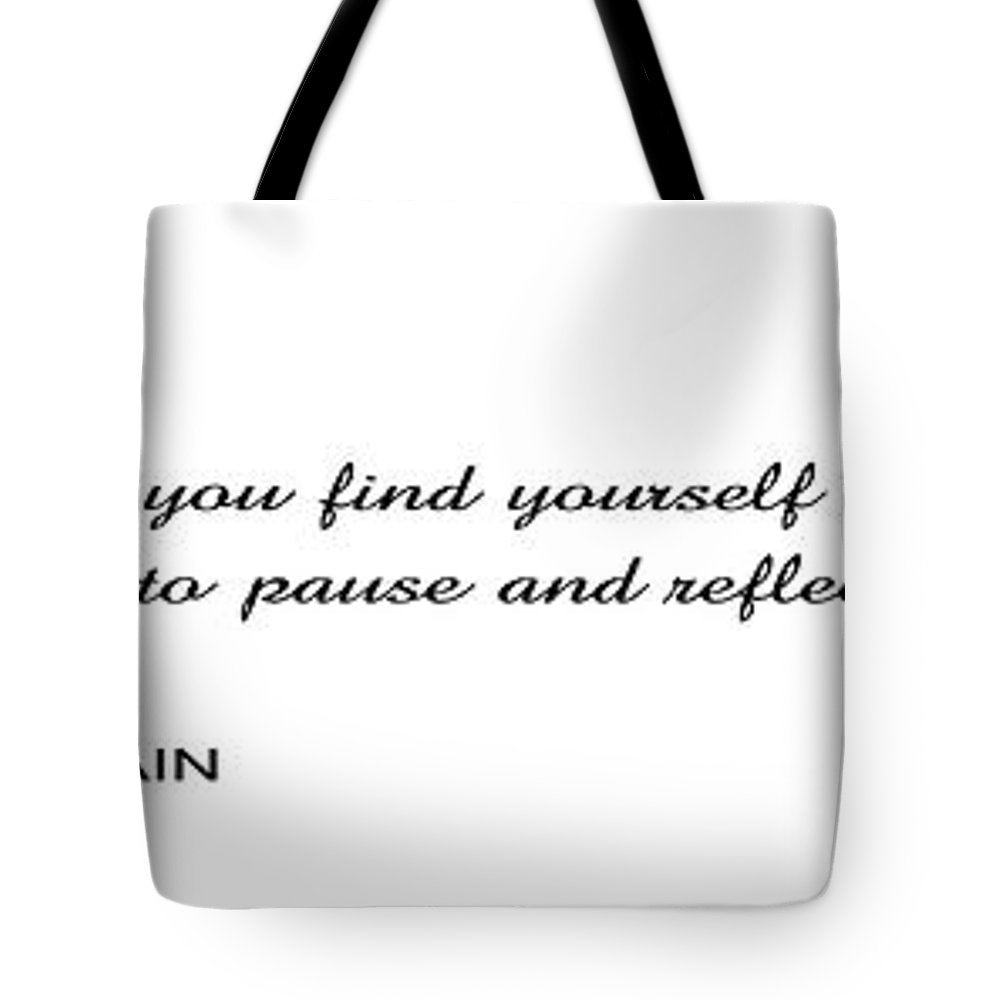 mark Twain Tote Bag featuring the digital art . . . Time To Pause And Reflect by Daniel Hagerman