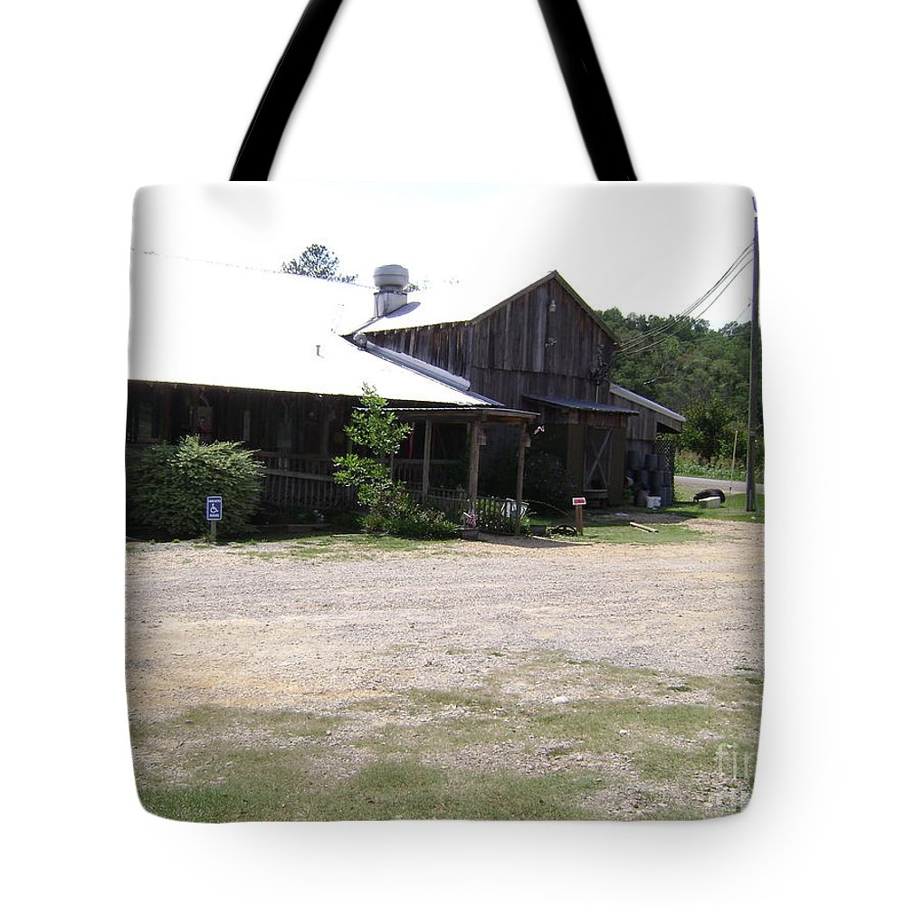 Butlers Mill Prints Tote Bag featuring the photograph   Butlers Mill Restaurant by R A W M