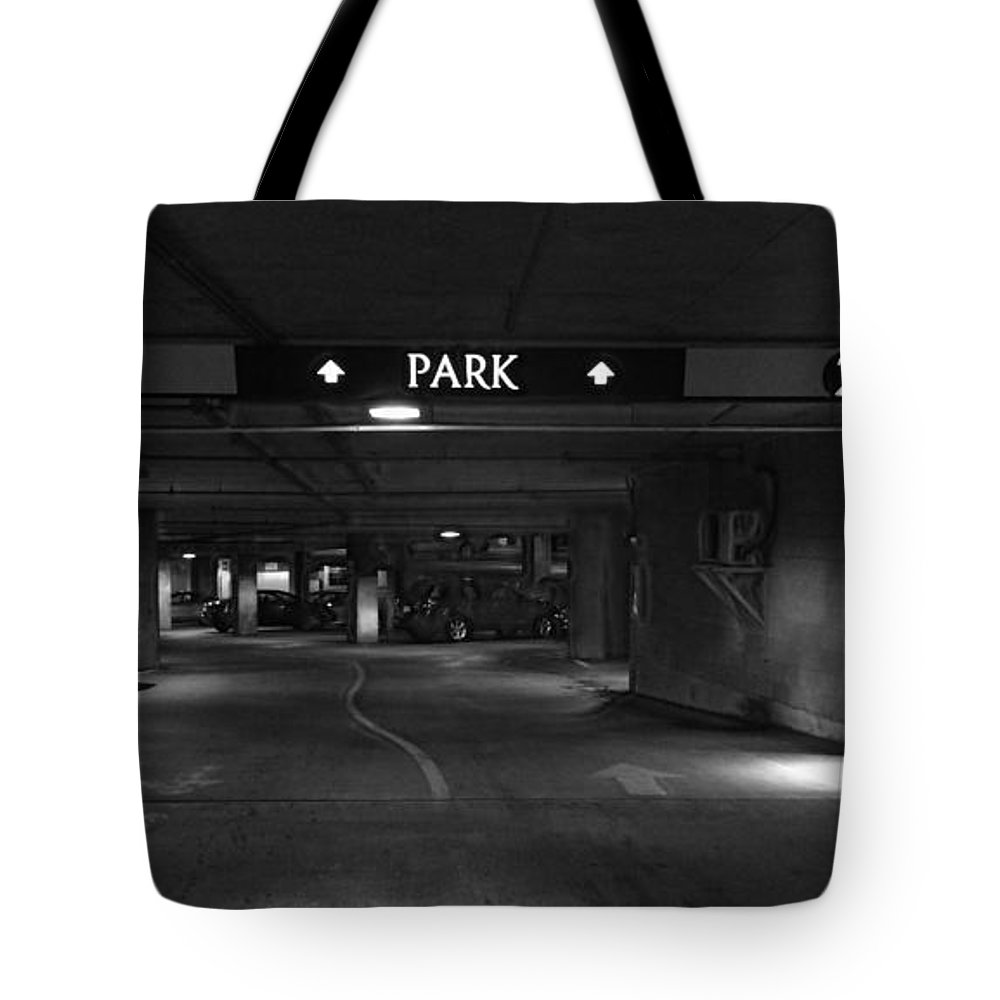 Black Tote Bag featuring the photograph 2 Park 2 Miglc by Mark Olshefski