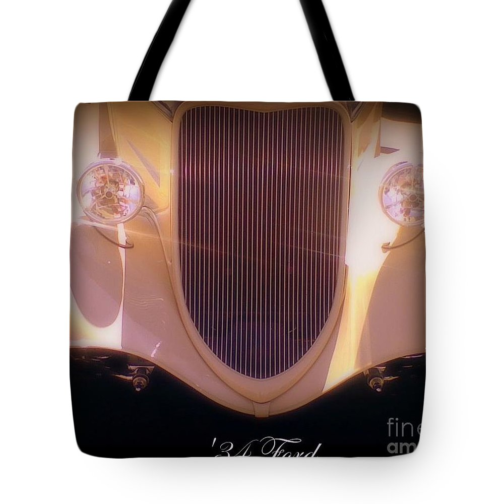 White Tote Bag featuring the photograph 34 Ford Pearl by Bobbee Rickard