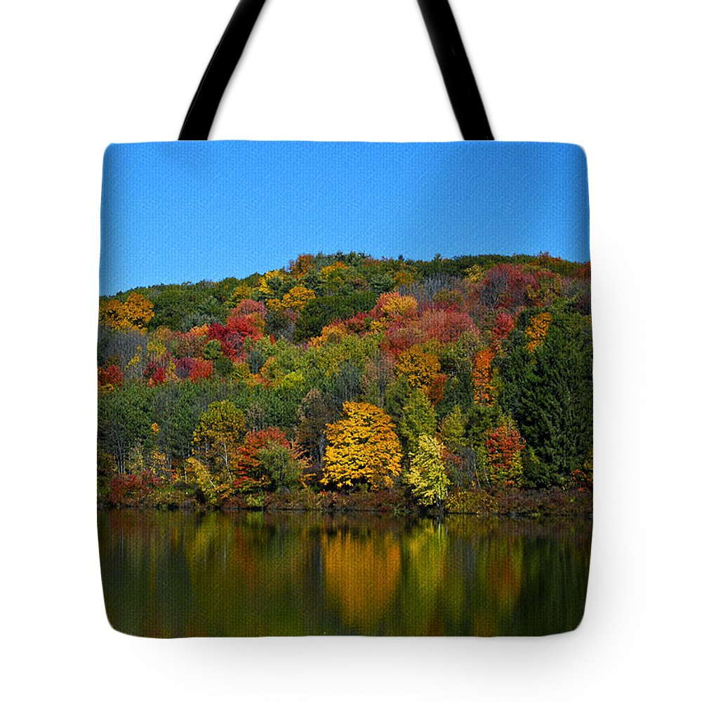 Landscape Tote Bag featuring the photograph Autumn Reflection by Crystal Wightman