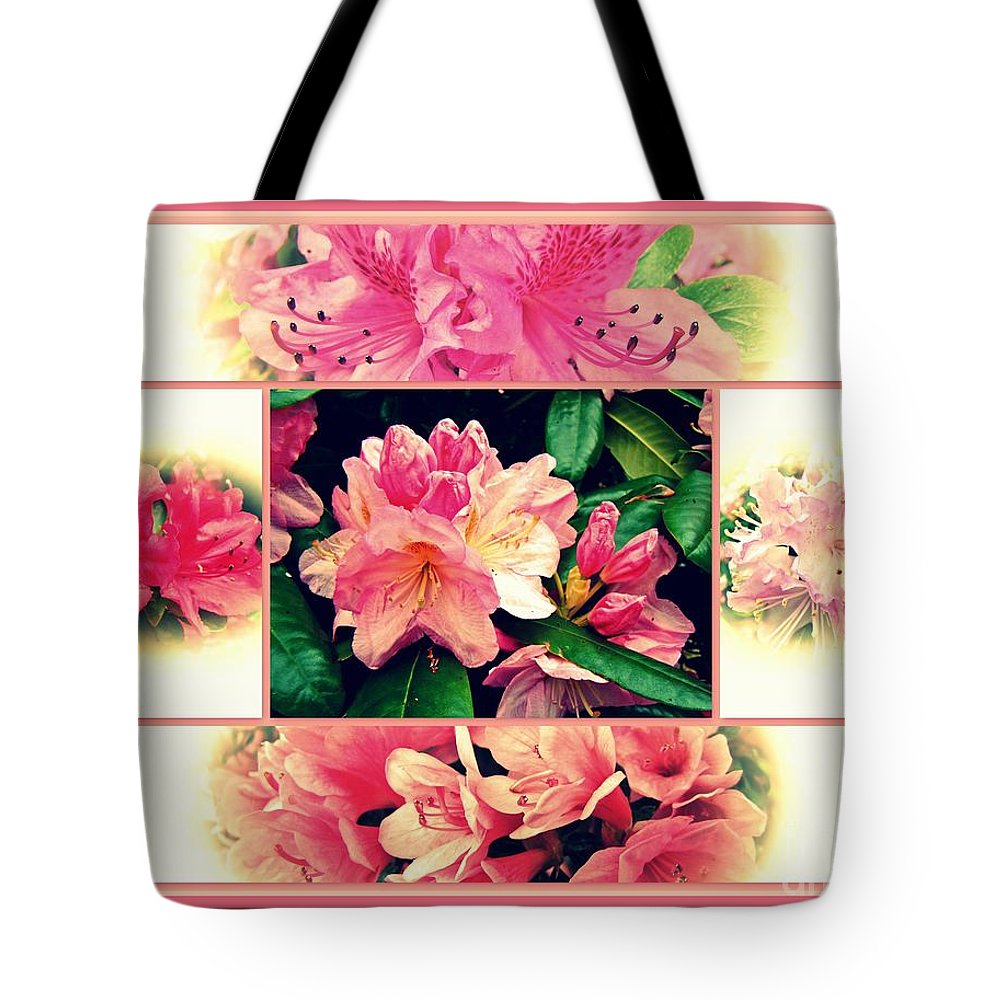 Azaleas Tote Bag featuring the photograph Azaleas 1950's Style by Mother Nature