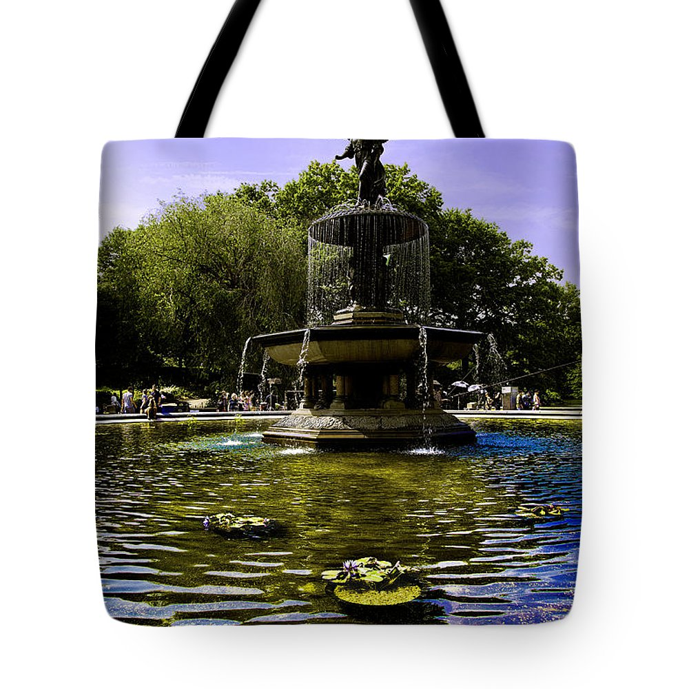 Bethesda Fountain Tote Bag featuring the photograph Bethesda Fountain - Central Park by Madeline Ellis