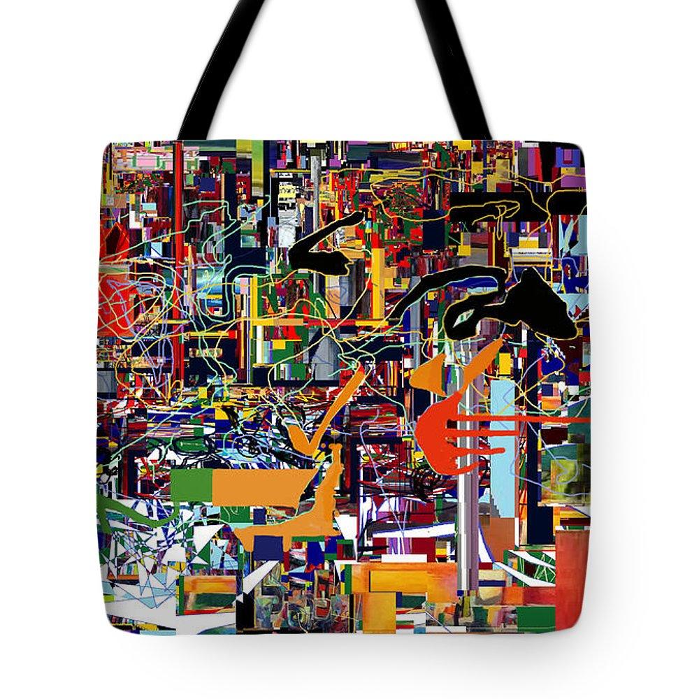 Torah Tote Bag featuring the digital art Bitachon 4c by David Baruch Wolk