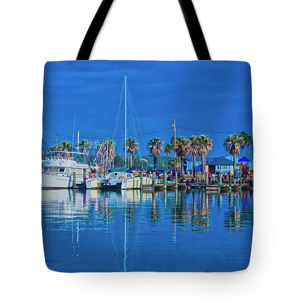 Blue Tote Bag featuring the photograph Blue Morning by Maria Nesbit