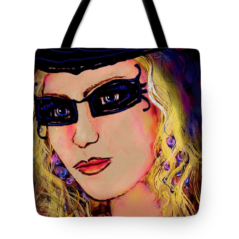 Portrait Tote Bag featuring the mixed media Casablanca Girl by Natalie Holland