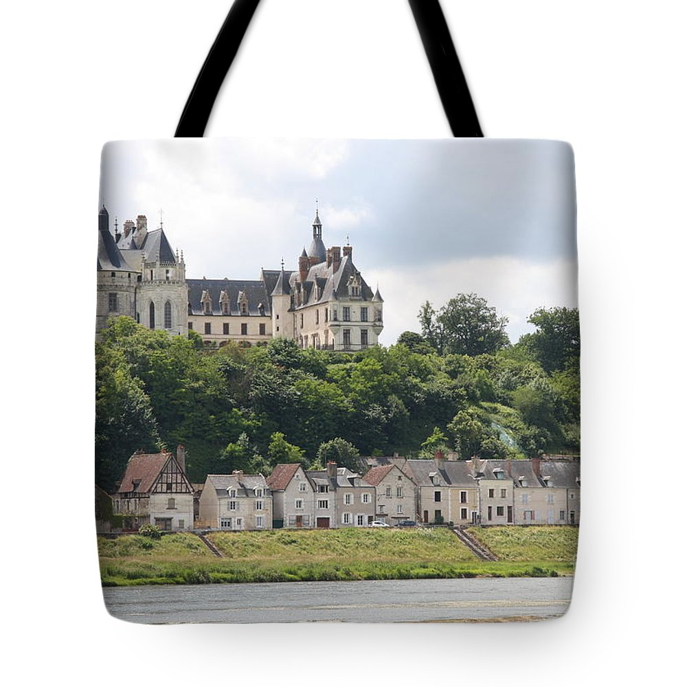 River Tote Bag featuring the photograph Chateau De Chaumont Stands Above The River Loire by Christiane Schulze Art And Photography