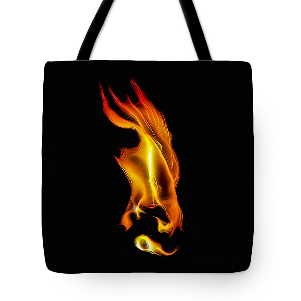 Fire Tote Bag featuring the photograph Consumed By Fire by Wes Jimerson