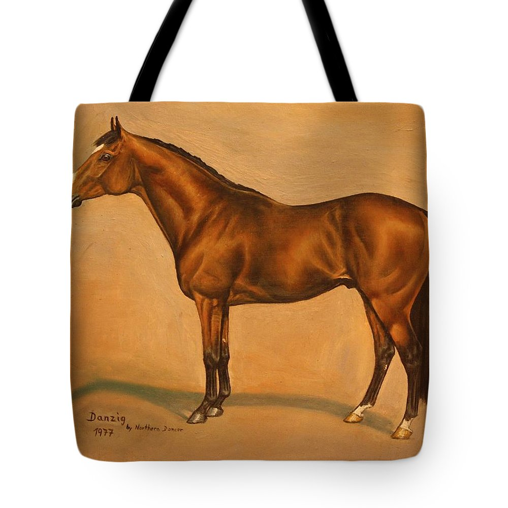 Champion Tote Bag featuring the painting Danzig by Birgit Schnapp