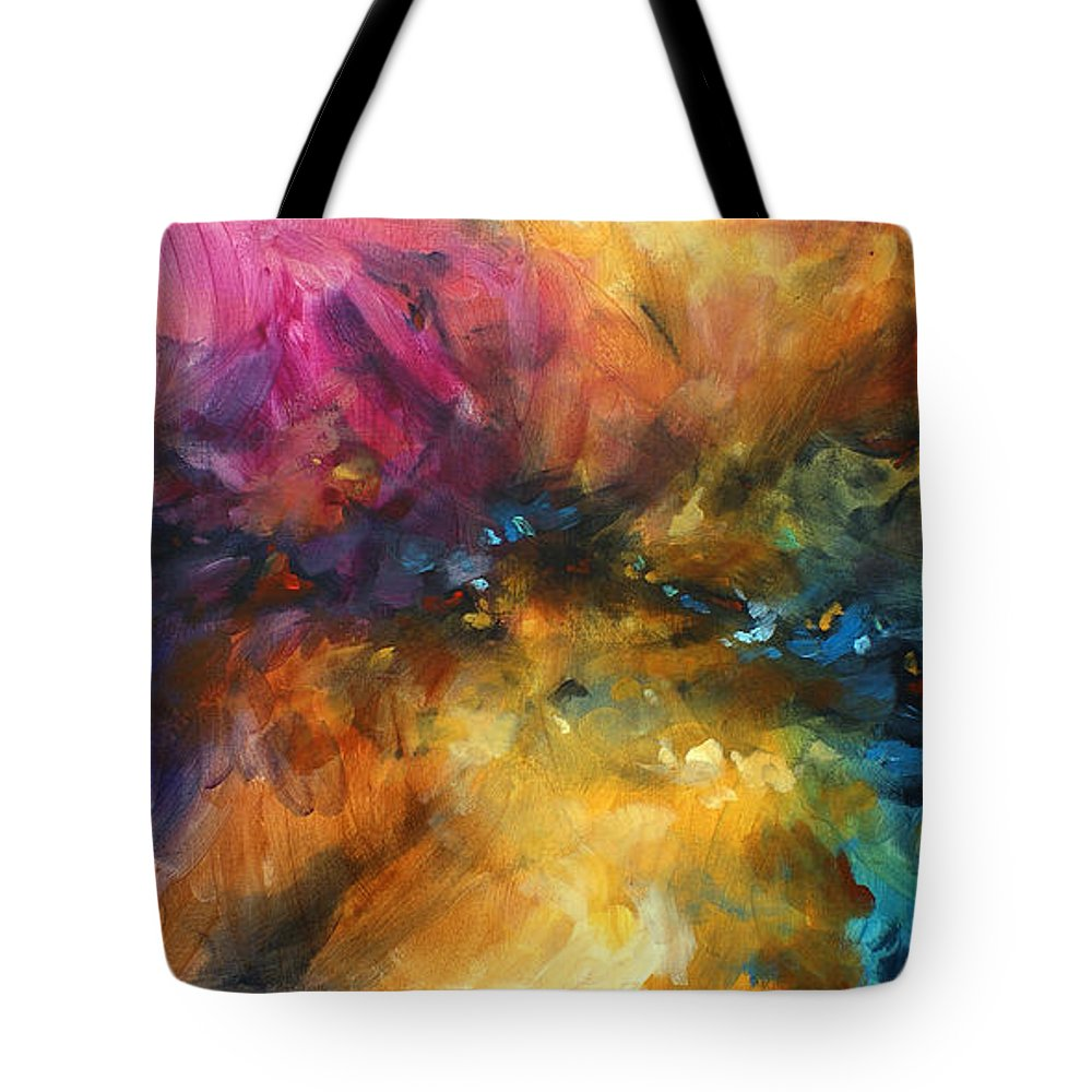 Abstract Tote Bag featuring the painting ' Dreamscape' by Michael Lang