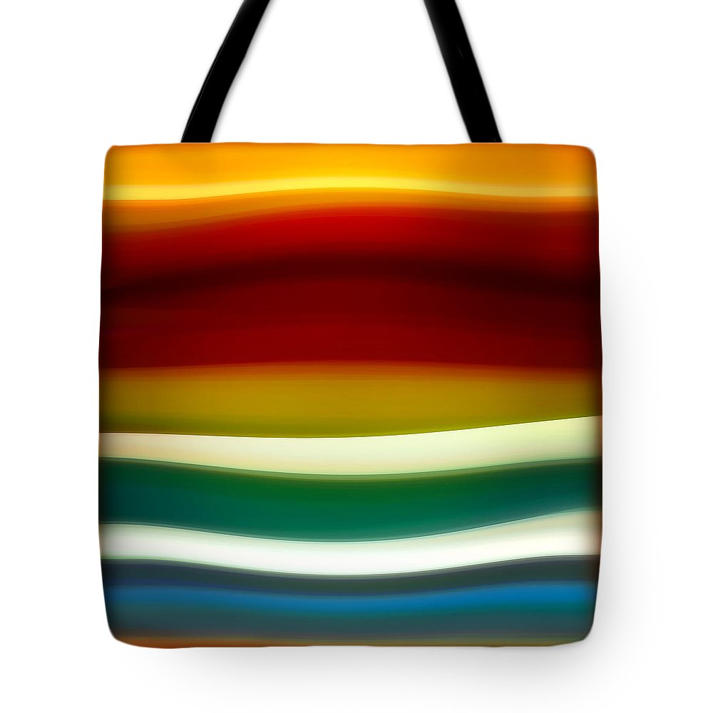 Fury Tote Bag featuring the painting  Fury Sea 3 by Amy Vangsgard