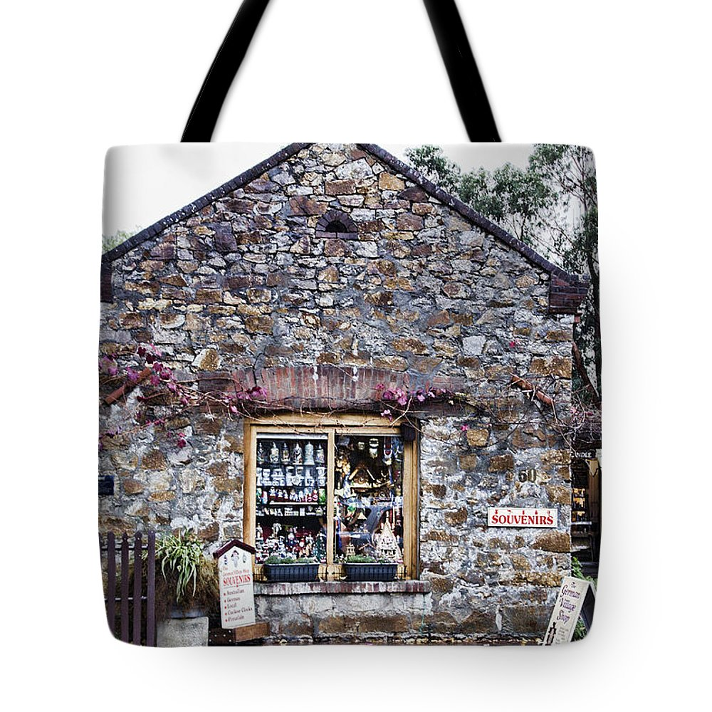 German Tote Bag featuring the photograph German Stone Cottage by Douglas Barnard