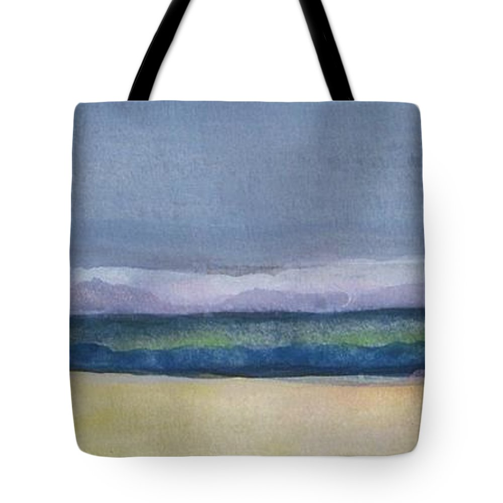 Landscape Tote Bag featuring the painting Gloaming by Vesna Antic