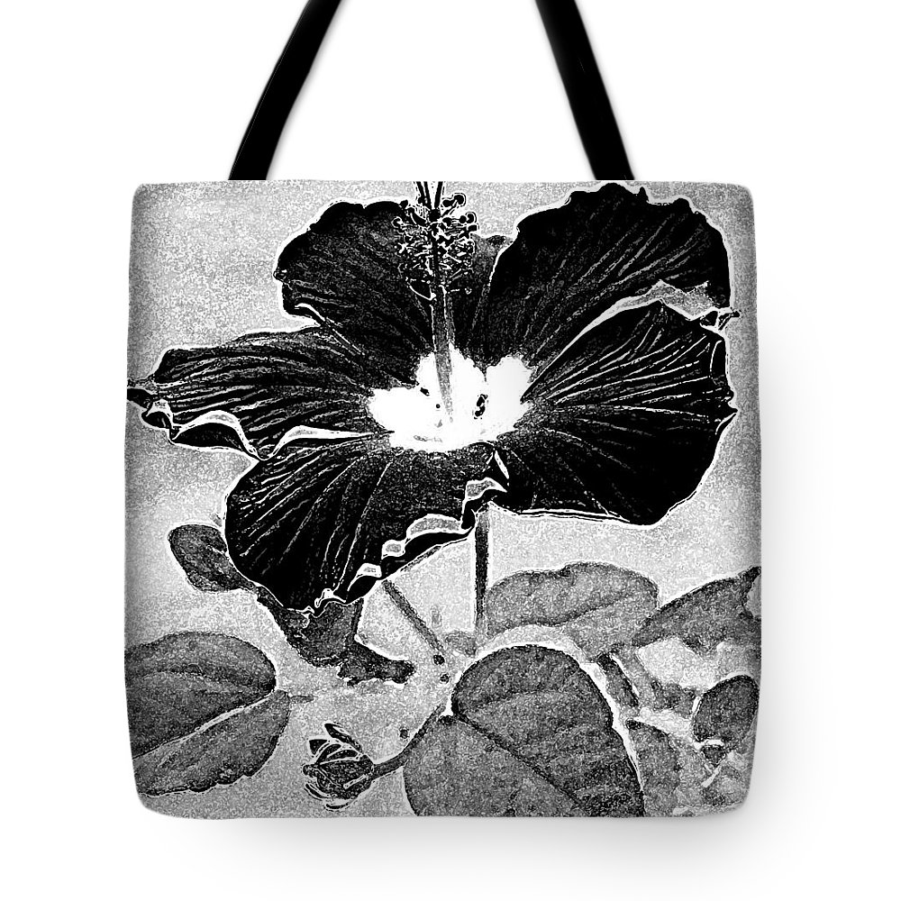 Hibiscus Tote Bag featuring the photograph Hibiscus Art by Kathy Sampson