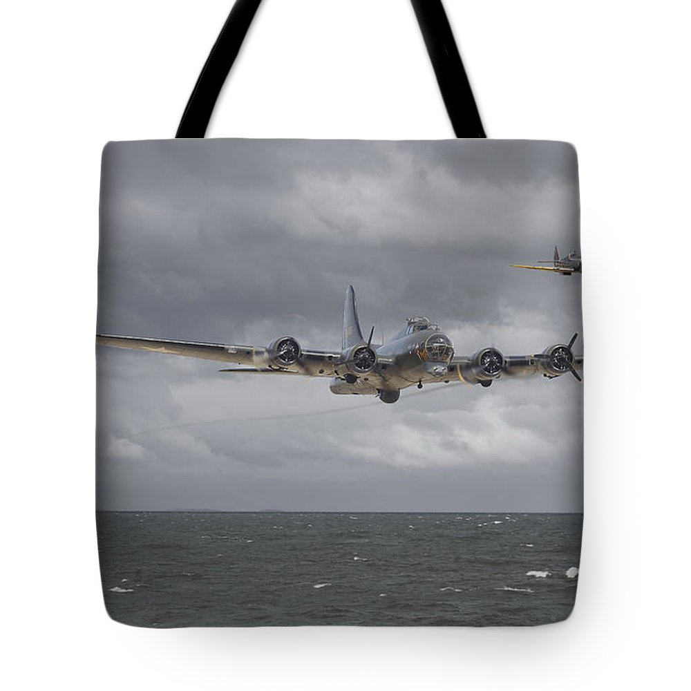 Aircraft Tote Bag featuring the digital art Home The Hard Way by Pat Speirs