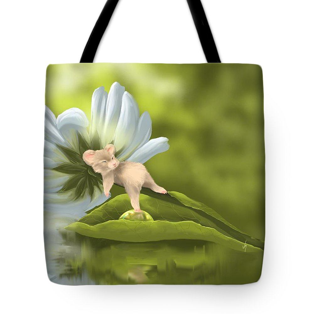 Mouse Tote Bag featuring the painting I'm So Sleepy... by Veronica Minozzi