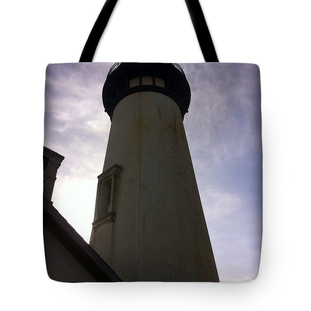 Waves Tote Bag featuring the photograph Light House Sky by Susan Garren