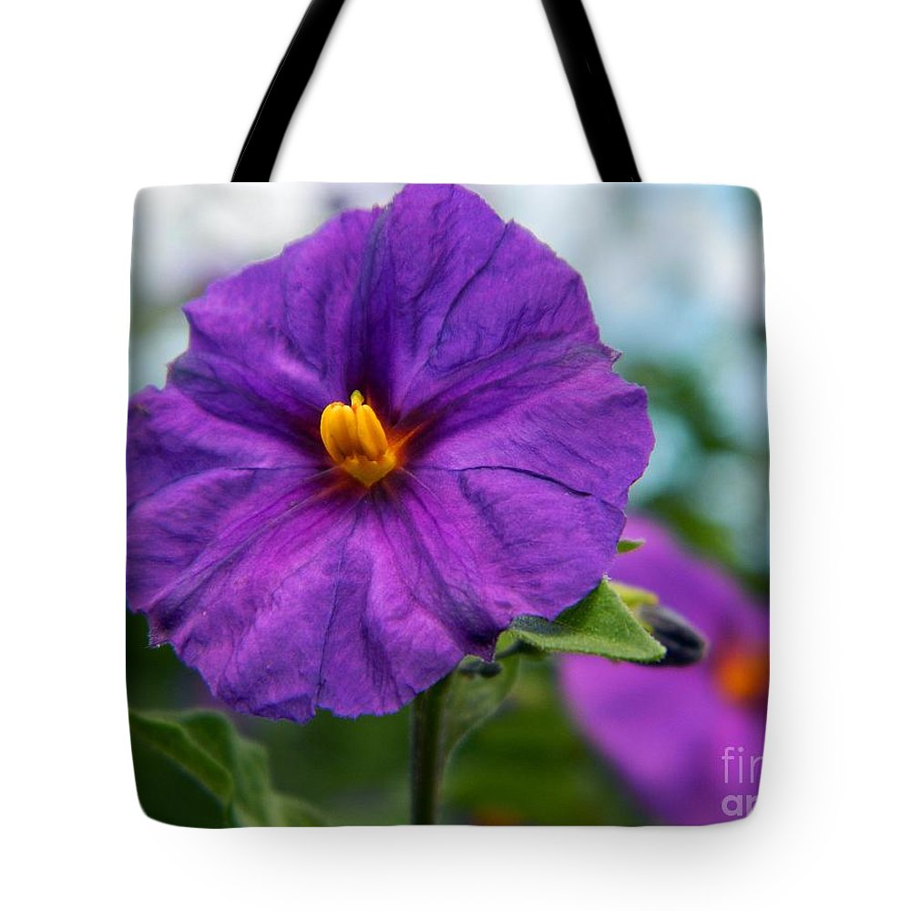 Little Flowers Tote Bag featuring the photograph Little Flowers by Everette McMahan jr