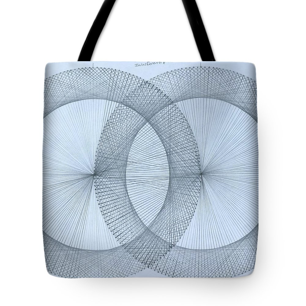 Fractal Tote Bag featuring the drawing Magnetism by Jason Padgett