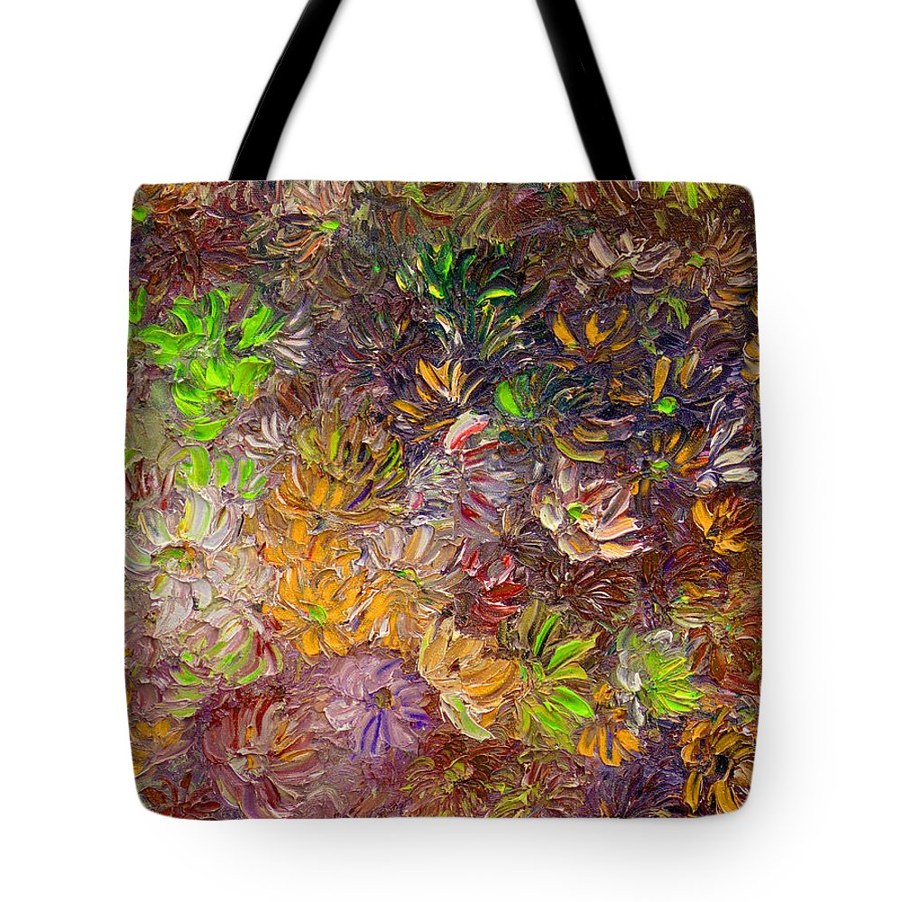Green Abstract Tote Bag featuring the painting My Pretty Green Pallet by Karin Dawn Kelshall- Best