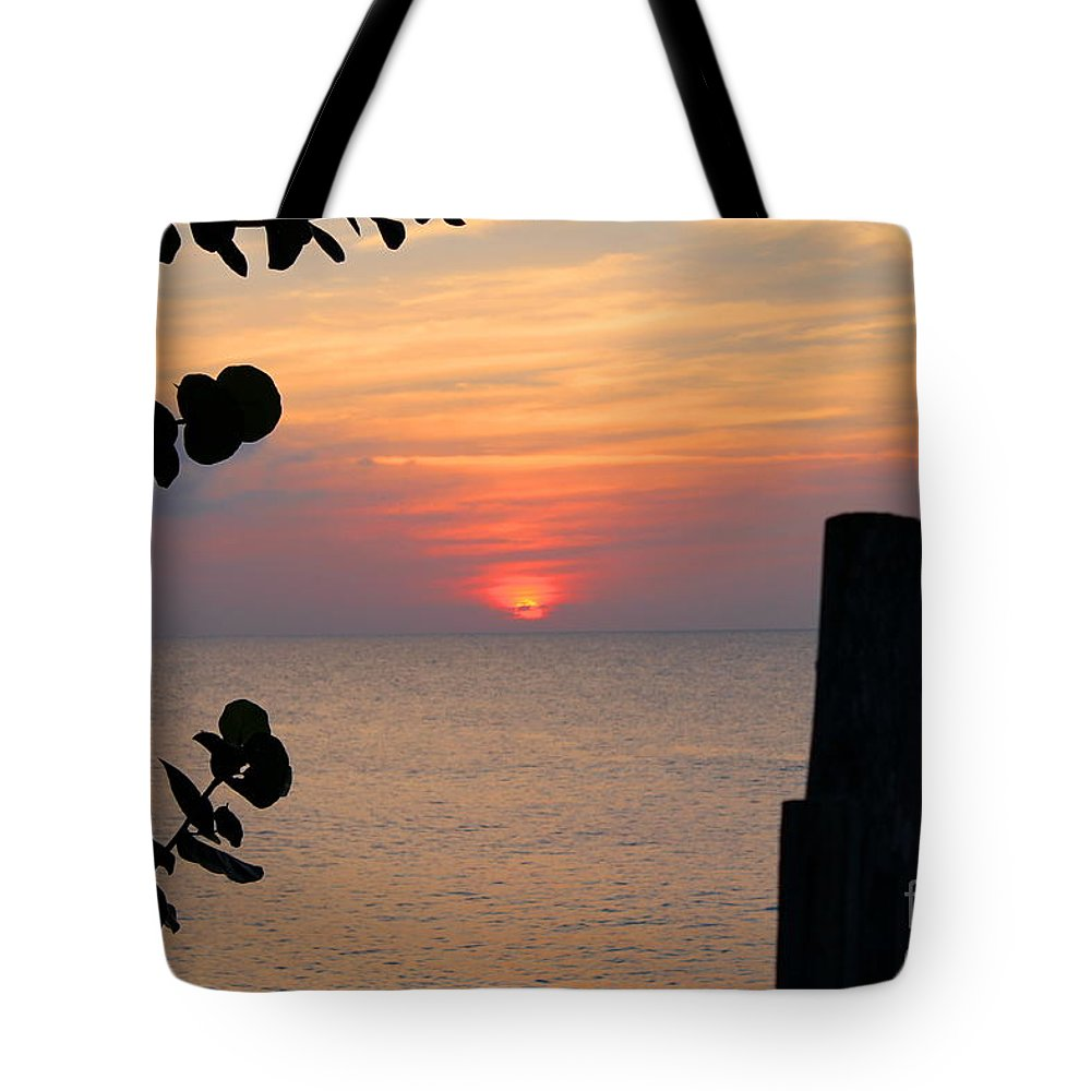 Jamaica Tote Bag featuring the photograph Negril Rose Sunset 3 by Debbie Levene