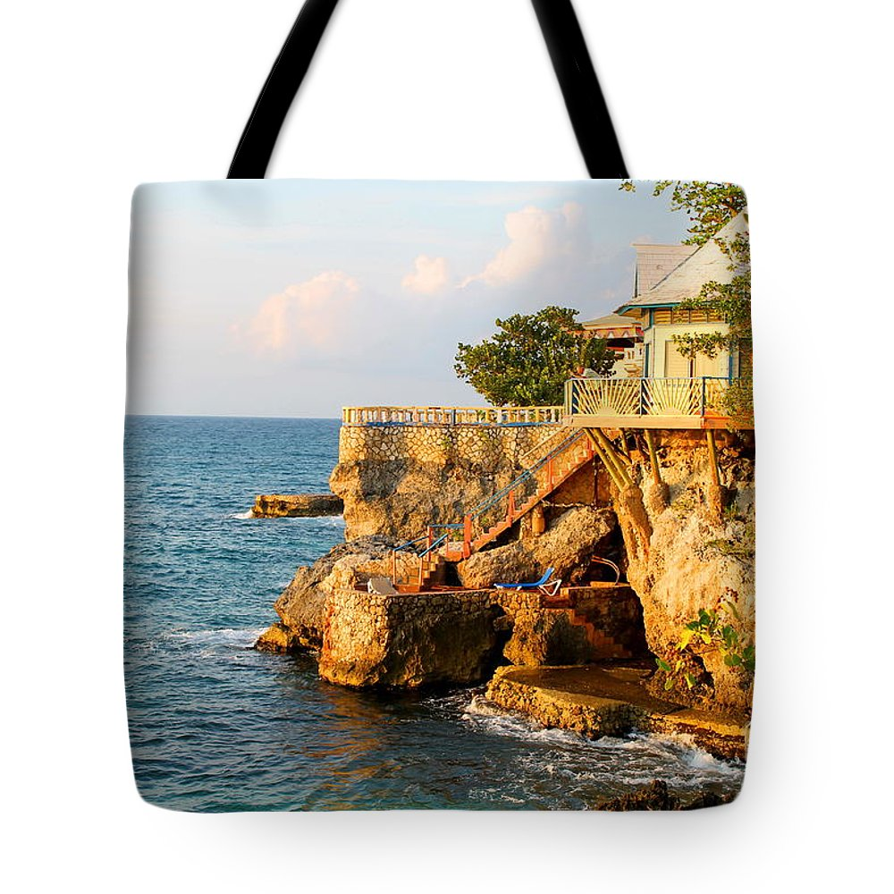 Jamaica Tote Bag featuring the photograph Negril West End by Debbie Levene