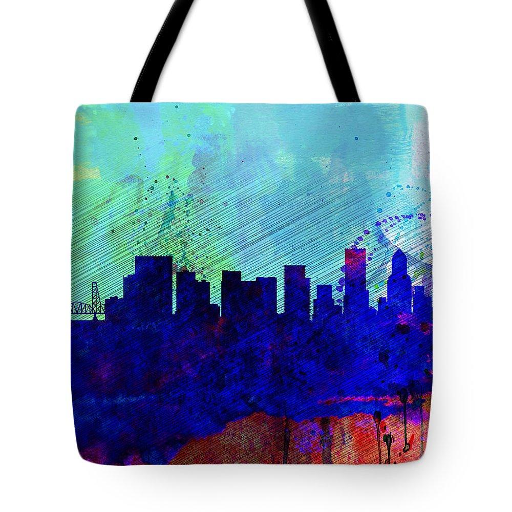 Portland Skyline Tote Bags