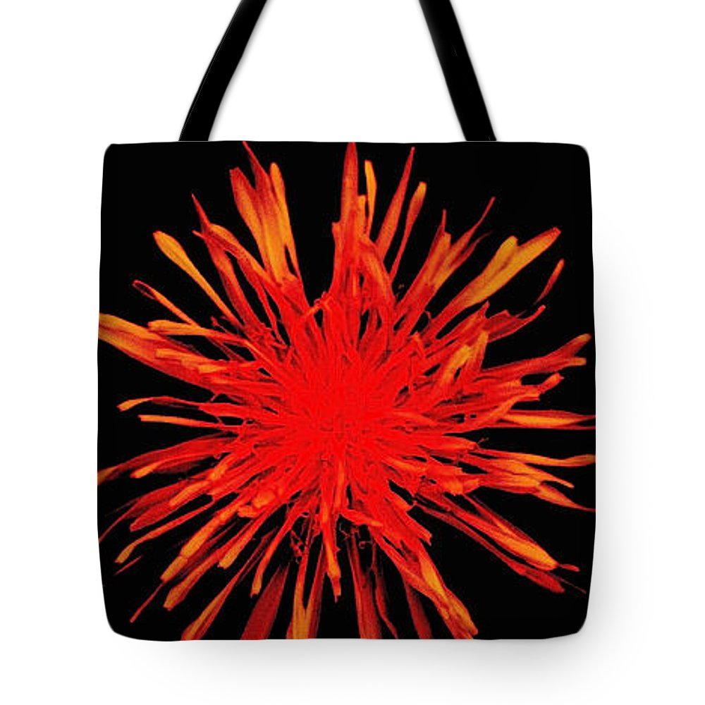 Featured Art Tote Bag featuring the photograph Red Sparkling Panels by Ethel Rossi