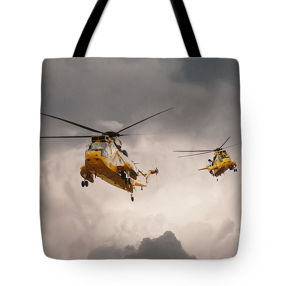 Search And Rescue Tote Bag featuring the digital art Sea Kings by J Biggadike