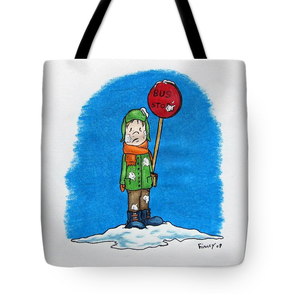 Michael Tote Bag featuring the drawing  Snowballs Suck by Michael TMAD Finney