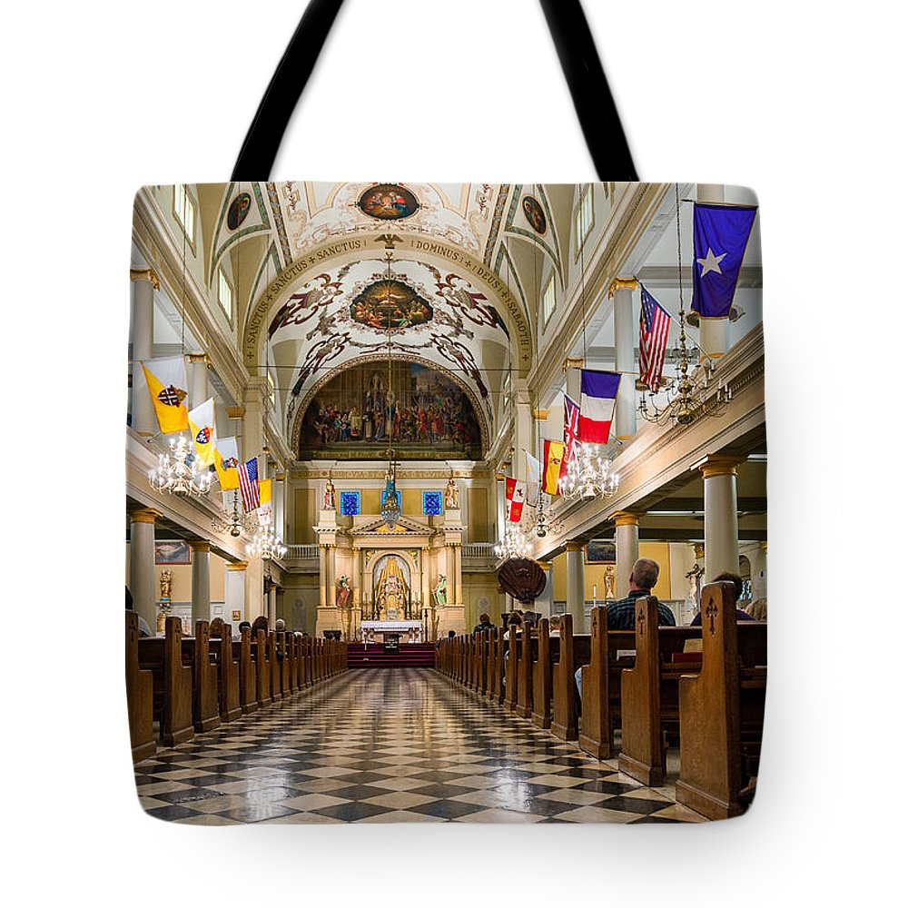 Nola Tote Bag featuring the photograph St. Louis Cathedral by Steve Harrington