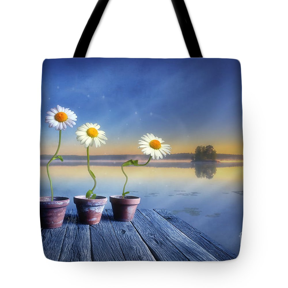 Art Tote Bag featuring the photograph Summer Morning Magic by Veikko Suikkanen